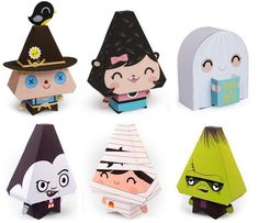 Offered by Dewmuffins website , here are some cool paper toys to decorate your home this Halloween. Oferecidos pelo site site Dewmuffi...