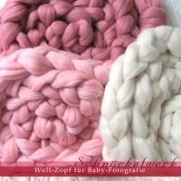 Woll-Zopf Kammzug Schurwolle für Baby-Fotografie - Artikeldetailansicht - Lealani Seide Seidenbänder Schmuck Schals Quilts, Kinder-Kleider