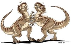 Epic duel by IsisMasshiro.deviantart.com on @deviantART <---- Epic Duel? Looks more like a sissy fight to me. LOL
