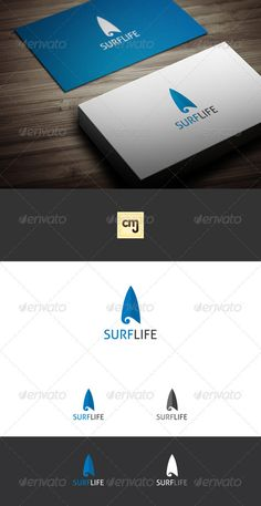 Surf Life - Logo Design Template Vector #logotype Download it here: http://graphicriver.net/item/surf-life-logo-template/3572563?s_rank=58?ref=nesto