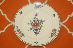 Villeroy Boch Alt Strassburg Dessert Plates No 4 Green Trim Flowers Set of 4  | eBay