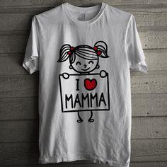 BC046 I Love Mamma bianca