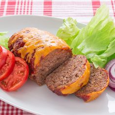 Meat loaf is boring no more, especially when it has the flavors of a bacon cheeseburger. Photo credit: Marc Matsumoto from No Recipes.