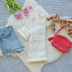 Casual Outfit ft. denim cutoffs, H&M top, GiGi New York Crossbody, lace up sandals