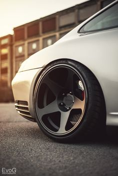 White Porsche 911 Turbo on black #Rotiform Wheels
