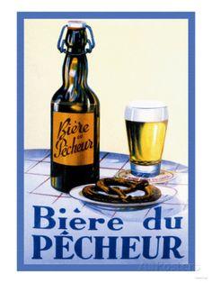 Biere du Pecheur Reproduction d'art
