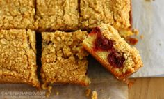Sour Cherry Crumb Bars- these were delicious, but next time I will reduce the amount of flour in the crumbs because I had too much crumbs and they were quite dry. It's also more of a coffeecake than a bar.