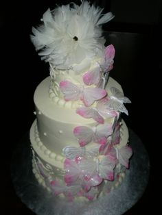 Kimberly's Butterfly wedding cake