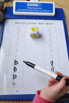 Great way to teach kids who are confused between their 'b's and 'd's.