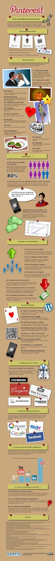 Infografia amb les característiques i usuaris a Pinterest