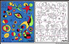 Ode to Joan Miro Mural Diagram - Art Projects for Kids Projects For Kids, Art Projects, Joan Miro Paintings, Art Handouts, Artist Project, Art Worksheets, Ecole Art, Art Lessons Elementary, Collaborative Art