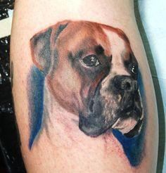 Tattoos  Realistic Dog Portrait Tattoo