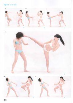 Best 7 How to Draw Manga / Shunsatsu action poses Photo Book 01 high school girls Ver – SkillOfKing. Action Pose Reference, Human Poses Reference, Pose Reference Photo, Figure Drawing Reference, Body Reference, Anatomy Reference, Art Poses, Drawing Poses, Drawing Tips
