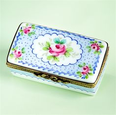 Limoges+Roses+in+Blue+Decor+Box