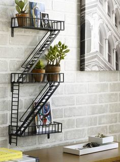 fire escape shelves 18 lovely, creative and unique shelves to decorate your walls from the blog of Francesco Mugnai, Your Source of Inspiration.