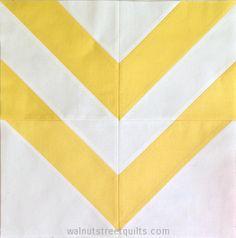 """12"""" chevron block tutorial @Walnut Street Quilts"""