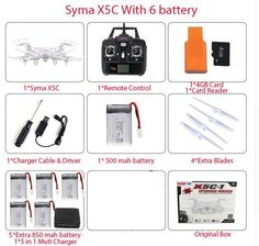 SYMA X5C RC Helicopter Drone Quadcopter 2.4GHz 4CH 6 Axis 2MP HD Camera RTF Remote Control Professional