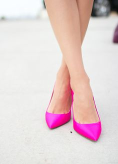 Pretty in Pink Pumps.
