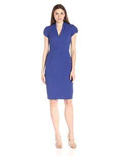 Lark & Ro Women's Cap-Sleeve V-Neck Sheath Dress - New Dresses Special Today