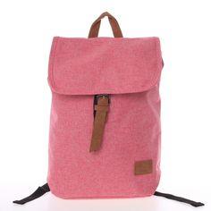 Originálním látkovým společníkem pro každý den je tento růžový batoh New Rebels. Má stylovou klopu s hnědým páskem ze syntetické kůže, který funguje na magnetický cvoček. Dno i zadní část batohu je polstrovaná. Nemá kapsu na notebook, ale jestliže se bez kapsy obejdete, vleze se do batohu notebook s max. velikostí 32 x 33 cm. Fashion Backpack, Backpacks, Unisex, Bags, Handbags, Backpack, Backpacker, Bag, Backpacking