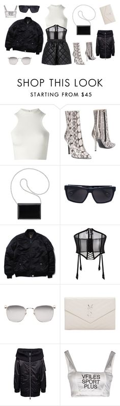 """Untitled #427"" by brookej659 ❤ liked on Polyvore featuring Versace, Aperlaï, Nine West, Linda Farrow, FOLIES BY RENAUD, Yves Saint Laurent, VFiles and STELLA McCARTNEY"