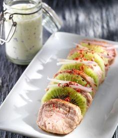 Filet mignon de porc bio aux kiwis