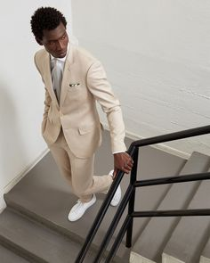 Tan Suit by Ovadia and Sons