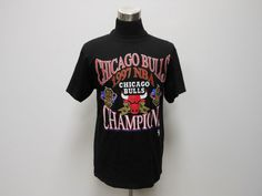Vtg Logo 7 Chicago Bulls 5 time Champions T shirt sz L Jordan Pippen Rodman #Logo7 #ChicagoBulls #tcpkickz