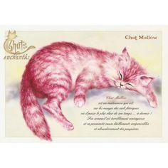 Carte Postale Chat Mallow Chats Enchantés illustré par Séverine Pineaux