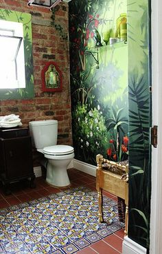 Jungle Fever ♥ Bathroom Hadeda Talavera Tiles Source By Milagrosmundo