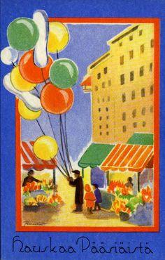 Kirjavälitys Oy, #pääsiäinen #postikortit #Easter Easter, Painting, Art, Craft Art, Painting Art, Kunst, Paint, Draw, Paintings