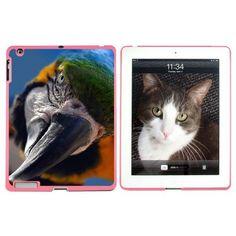 Blue and Yellow Macaw Parrot Ara Bird Apple iPad Case, Pink