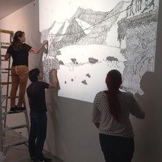 Ana Patricia Palacios, artista #MDE15, adelanta el montaje de su obra Garrucha. Conoce más de la artista en: http://bit.ly/1Ph1lxI