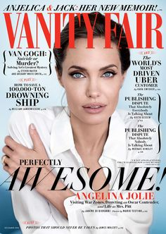 Angelina Jolie on the cover of Vanity Fair, December 2014. Photo: Mario Testino. I'd vote for her!