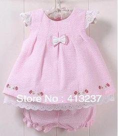 Hot new baby girl cute dresses plaid bowknot kids summer baby clothing sets dess… Little Girl Dresses, Girls Dresses, Wholesale Baby Clothes, Baby Dress Design, Baby Dress Patterns, Baby Suit, Frocks For Girls, New Baby Girls, Toddler Dress