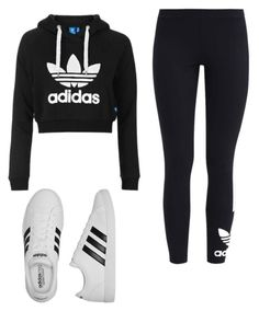 """""""Untitled #26"""" by madi12739273 on Polyvore featuring Topshop, adidas Originals and adidas"""
