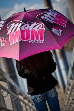 Moto Mom Golf Umbrella / Motocross For A Cure. Foam Grip Handle, Easy Open Button. These are sold out currently but back in production - due to be released February 2015