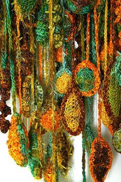 freeform crochet fringes