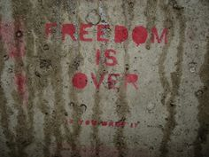 """""""freedom is over (if you want it).""""  poor john lennon :("""