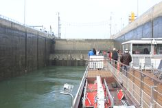 Inside the lock.