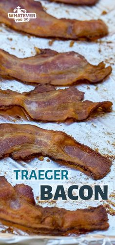 Traeger Bacon is bacon that's been cooked on a pellet grill. Grilling your bacon has a lot of different benefits. Easier clean-up, your house not smelling like bacon all day, more consistent results. Traeger Recipes, Smoked Bacon, Traeger Smoker, Bacon Bacon, Smoker Grill Recipes, Grilling Recipes, Smoker Cooking, Camping Recipes