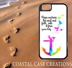 Hope and Faith Anchor Quote Apple iPhone 4 4G 4S 5G Hard Plastic Cell Phone Case Cover Original Trendy Stylish Design