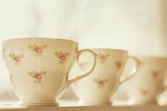 I love dainty little tea cups