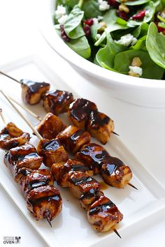 This easy balsamic chicken skewers recipe, made with a heavenly balsamic glaze, is the perfect appetizer or main dish everyone will love!