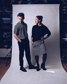 The Daltons. #fashiun ≪ ~ posing with #joelbasman for @basman_clothing / shot by @mathyaskurmann / hair & makeup by @grundmann.barbara ≪ ~…