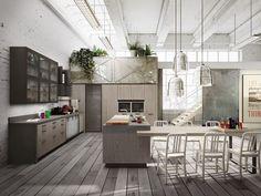 Téléchargez le catalogue et demandez les prix de Loft   cuisine avec îlot by Snaidero, cuisine intégrée avec îlot design Michele Marcon, collection Sistema
