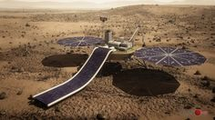 A tiny, self-contained greenhouse has been selected to fly on the robotic lander that Red Planet colonization effort Mars One intends to launch in 2018, Artist's concept of Mars One's robotic lander, which the nonprofit group intends to launch toward the Red Planet in 2018.