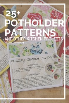 Learn how to sew a potholder - they make great gifts!
