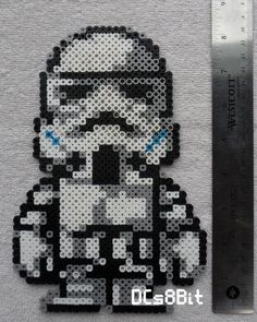 Stormtrooper Star Wars perler beads by DCs8Bit: