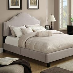 online shopping for Taupe Queen Size Upholstered Bed Tan Modern Contemporary from top store. See new offer for Taupe Queen Size Upholstered Bed Tan Modern Contemporary Cama Queen Size, Queen Size Bedding, Bedroom Color Schemes, Bedroom Colors, Bedroom Ideas, Bedroom Decor, Couches, Cama Murphy, Murphy Beds